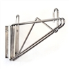 SI Chrome Wire Shelving Wall Bracket
