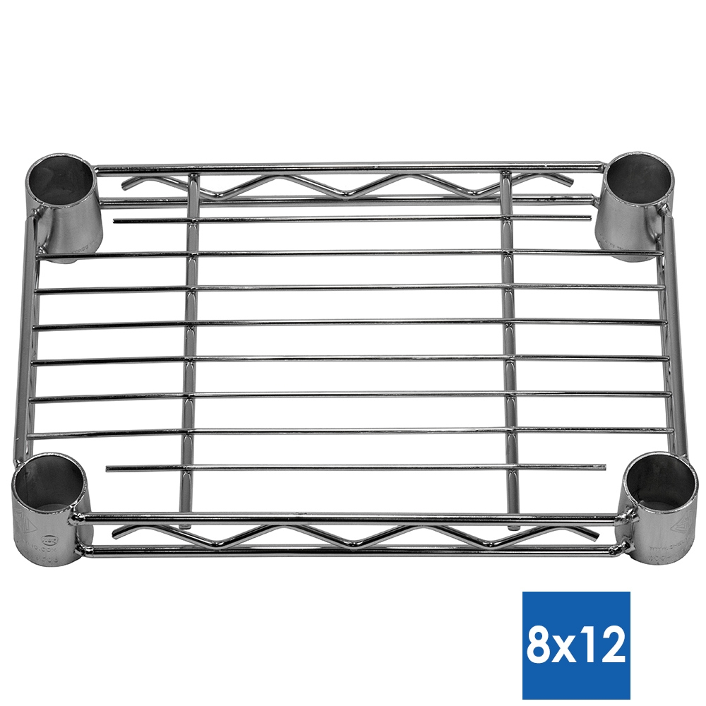 8 d chrome wire shelves