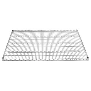 "Shelving Inc (SI) brand 30""deep chrome wire shelf"