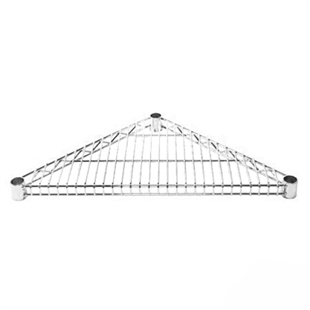 Chrome Triangle Corner Wire Shelves
