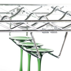 "Wineglass Stemware Holder for 14""d Wire Shelves"