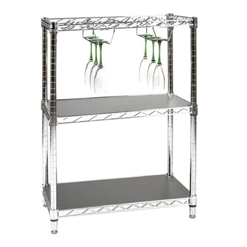 Wire Stemware Rack & Glass Holder | Shelving.com