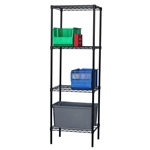 Black Wire Shelving with 4 Shelves - Standard Duty