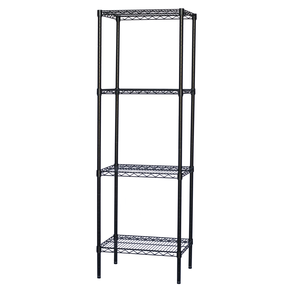 Black Wire Shelving with 4 Shelves - Standard Duty | The Shelving Store