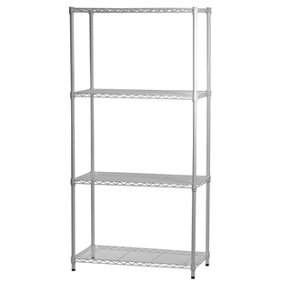 SI Brand Shelf-Master 4 Shelf Unit - White