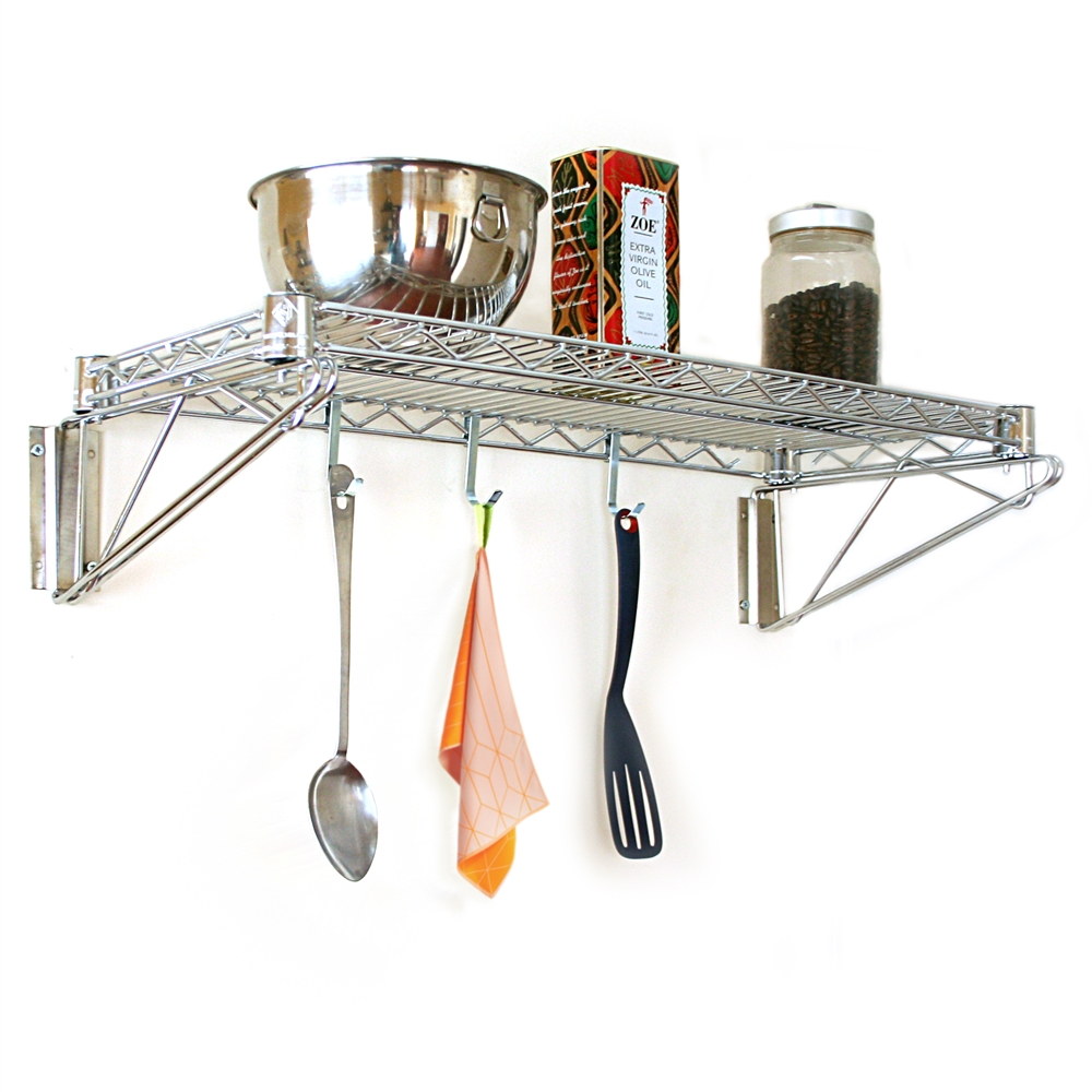 12 D Chrome Wall Mounted Wire Rack