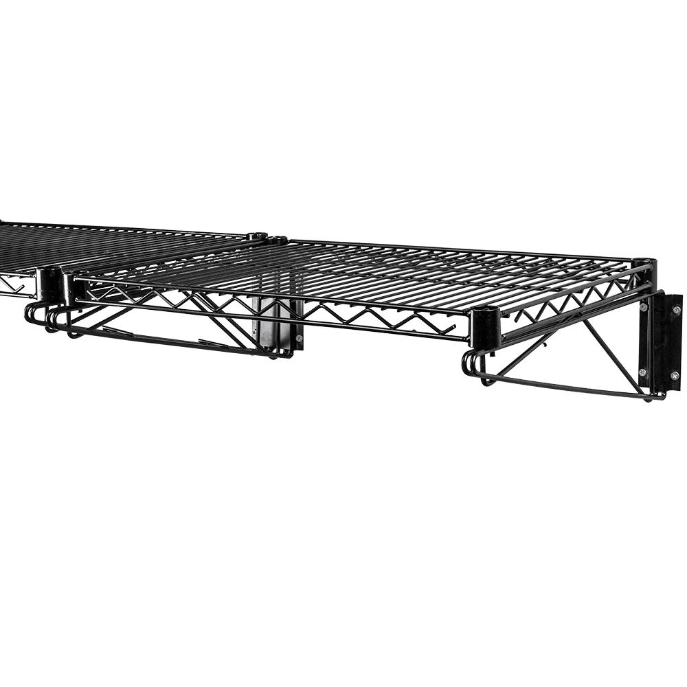Black Wall Mounted Wire Shelf by Shelving Inc. | Shelving.Com