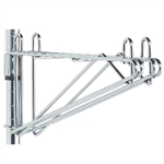 For use in continuous runs of adjustable height wall mounted shelving