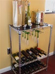 SI Chrome Wire 12 Bottle  Wine Rack