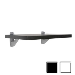 "12""d x 45""w Sumo Series Wall Shelf w/ Scoop mounting brackets, available in black or white"