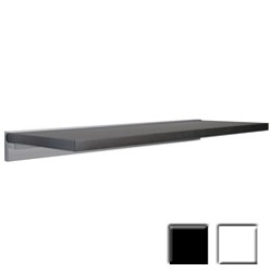 "12""d x 45""w x 1""h simple, light weight Wall Shelves w/ CUBE mounting brackets by Dolle"