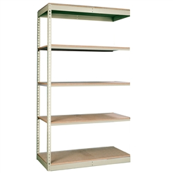"12""d Rivetwell Single Rivet Add On Shelving Units with 5 levels"