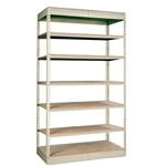 "12""d Rivetwell Single Rivet Shelving Units with 7 Levels"