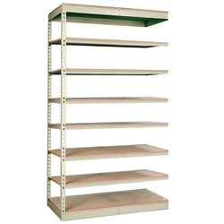 "12""d Rivetwell Single Rivet Add On Shelving Units with 8 Levels"