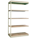"24""d Rivetwell Single Rivet Add On Shelving Units with 5 levels"