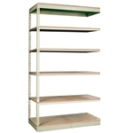 "24""d Rivetwell Single Rivet Add On Shelving Units with 6 Levels"