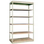 "24""d Rivetwell Single Rivet Shelving Units with 6 Levels"