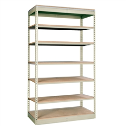 "24""d Rivetwell Single Rivet Shelving Units with 7 Levels"