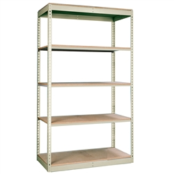 "36""d Rivetwell Single Rivet Shelving Units with 5 levels"