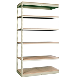 "36""d Rivetwell Single Rivet Add On Shelving Units with 6 Levels"