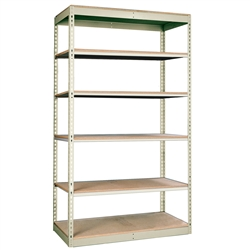 "36""d Rivetwell Single Rivet Shelving Units with 6 Levels"