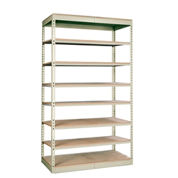 "36""d Rivetwell Single Rivet Shelving Units with 8 Levels"