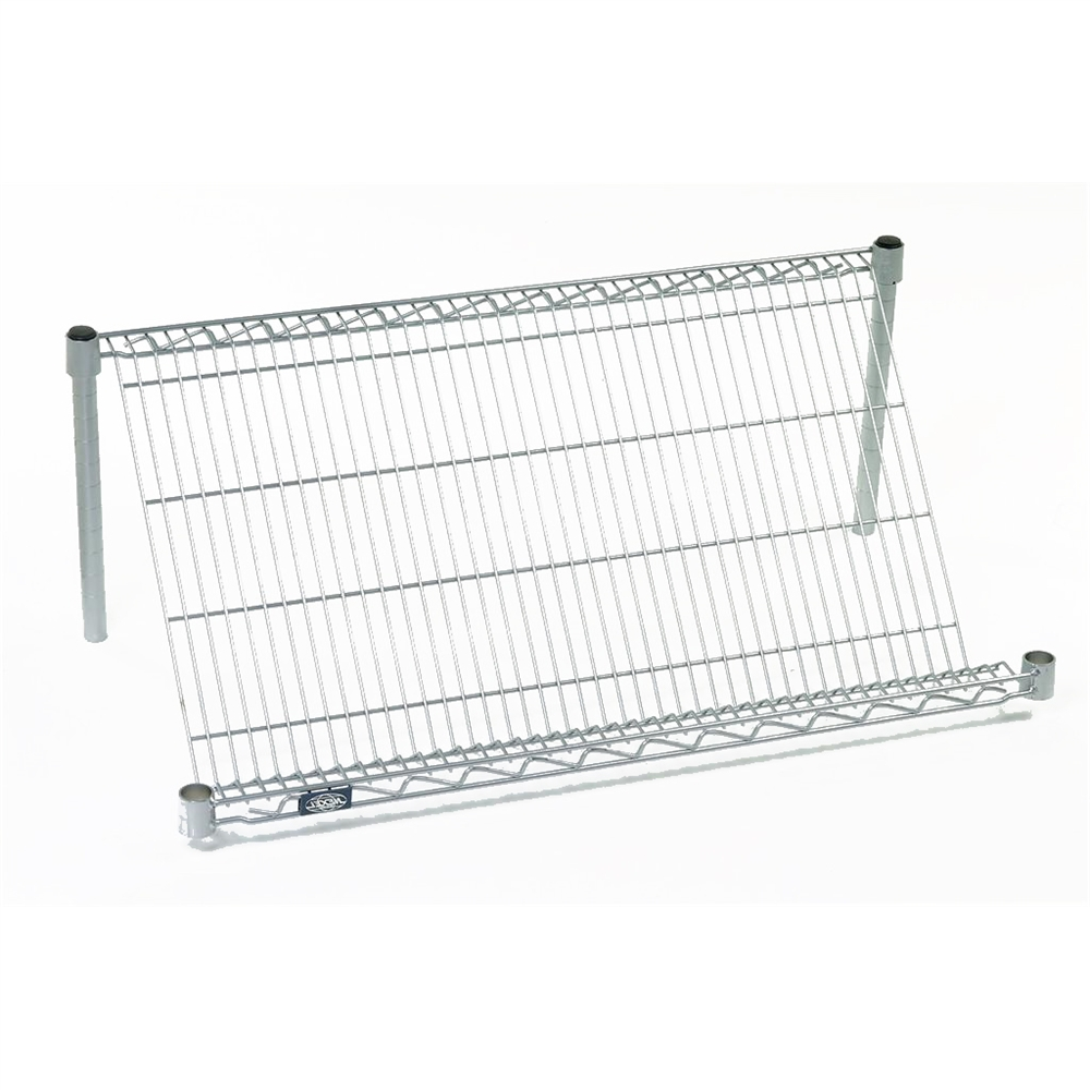 Slant Wire Shelves by Nexel on interior shelves, wood shelves, piping shelves, three shelves, plumbing shelves, concrete shelves, kitchen shelves, frame shelves, radiator shelves, parts shelves, security shelves, drywall shelves, blue shelves, welding shelves,