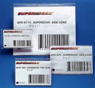 Clear SUPERSCAN GOLD Label Holders - 50pk