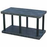"DuraShelf Solid Top 48""w x 24""d x 27""h Base 2-Shelf System"