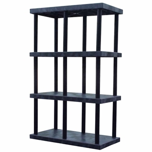 "DuraShelf Solid Top 48""w x 24""d x 75""h 4-Shelf System"