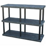 "DuraShelf Solid Top 66""w 3-Shelf System"