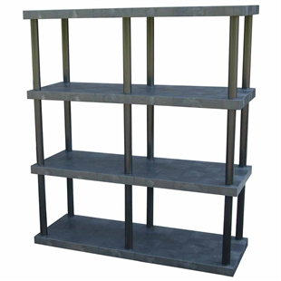 "DuraShelf Solid Top 66""w 4-Shelf System"