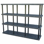 "DuraShelf Solid Top 96""w 4-Shelf System"