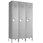 "Single Tier Lockers - 12""d x 12""w x 72""h - Gray"