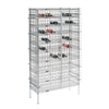 Wire shelving security panels for wine bottle shelves