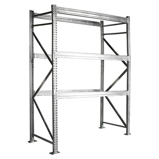 "3-Tier Galvanized Pallet Rack - 42""d x 144""h"