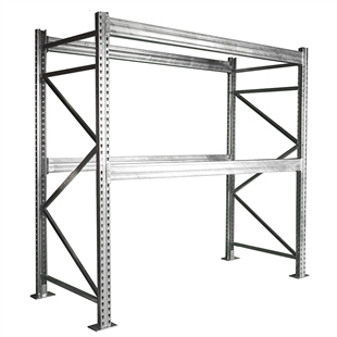 "2-Tier Galvanized Pallet Rack - 48""d x 120""h"