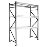 "3-Tier Galvanized Pallet Rack - 48""d x 144""h"