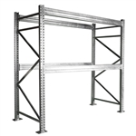 "2-Tier Galvanized Pallet Rack - 48""d x 96""h"