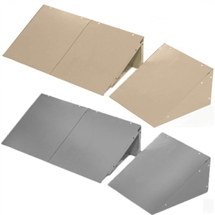 Slope Tops for Lockers - Gray