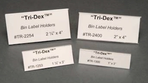 Clear Tri-Dex Label Holders - 25pk