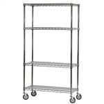 "SI 24""d x 60""w Chrome Wire Carts"