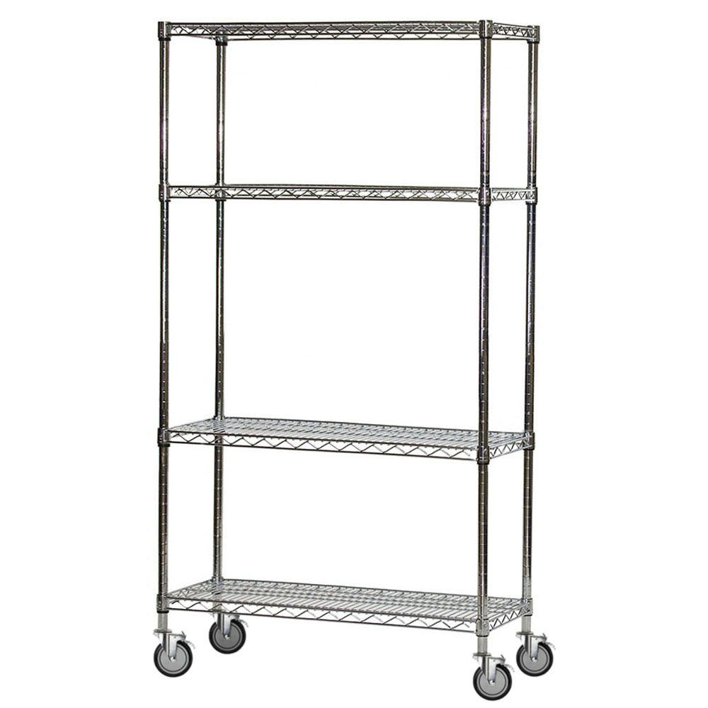 Wire Shelving Carts with 4 Shelves 18\