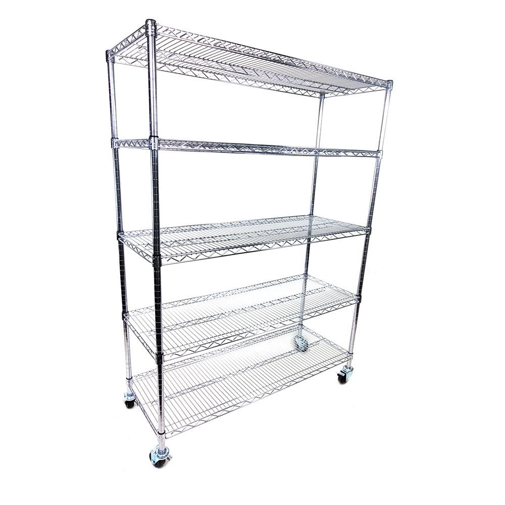 """12/""""d x 54/""""w Wire Shelving with Five Shelves"""