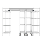 "48""d Super Erecta Overhead Track Shelving - Chrome"