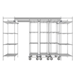 "60""d Super Erecta Overhead Track Shelving - Chrome"