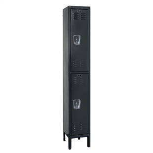 "Hallowell Double Tier 1-Wide Lockers - 12""d x 36""h"