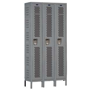 Single-Tier Heavy-Duty Ventilated Locker 3-Wide