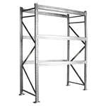 Teardrop Galvanized Pallet Rack Upright Frame - 18,000 lbs cap.