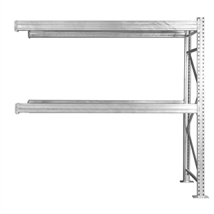 "2-Tier Add-On Galvanized Pallet Rack - 42""d x 96""h"